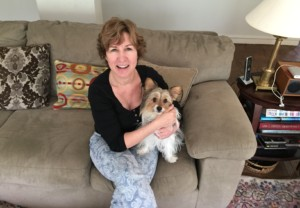 Laurie Stone with her dog Libby