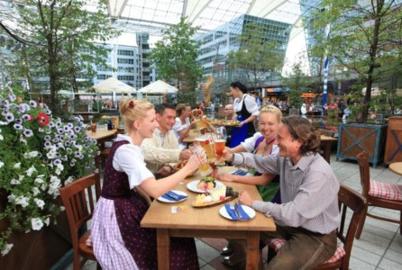 Munich Airport Beer Garden 3