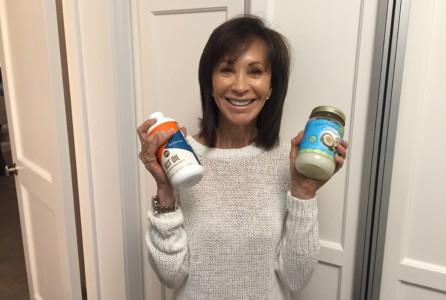 Mindy with coconut oil