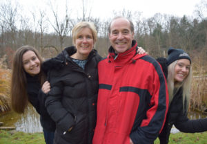 Bruce Horovitz and his wife, Evelyne, with daughters Rebecca (left) and Rachel, had been on vacation when he was sidelined by an outbreak of a rare form of shingles targeting his middle ear. (Family photo)