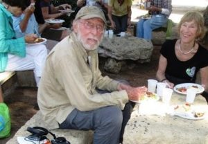 Fyllis Hockman and Victor Block picnicking in Sicily.
