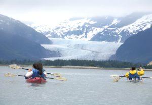 Kayaking near Mendenhall Glacier2
