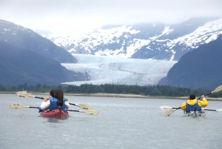 Kayaking near Mendenhall Glacier2