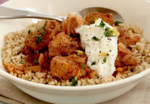 This Jan. 11, 2016 photo shows slow cooker pork shoulder vindaloo in Concord, N.H. This dish is from a recipe by Meera Sodha. (AP Photo/Matthew Mead)