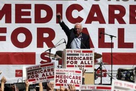 Bernie Sanders promoting Medicare For All