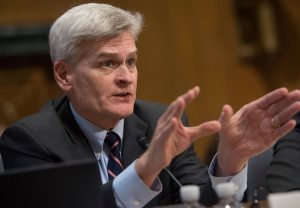 US Senator Bill Cassidy, Republican of Louisiana, testifies during a US Senate Committee on Finance hearing on the Graham-Cassidy-Heller-Johnson Proposal on reforming health care on Capitol Hill in Washington, DC, September 25, 2017. / AFP PHOTO / SAUL LOEB        (Photo credit should read SAUL LOEB/AFP/Getty Images)