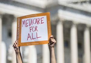 UNITED STATES - JULY 19: Progressive Democrats of America holds a news conference to announce the launch of a Medicare for All Caucus at the Capitol on Thursday, July 19, 2018. (Photo By Bill Clark/CQ Roll Call)