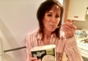 mindy eating ice-cream stress self image