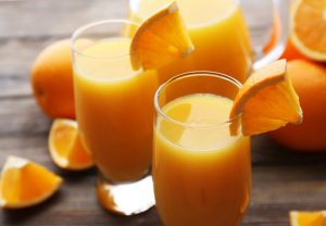 orange juice, fruit