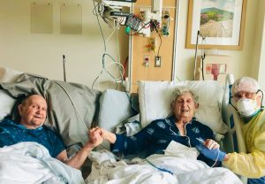 Tom Stevens and his wife, Virginia, were hospitalized with COVID-19 in early August and put in separate rooms. Their physicians later agreed that the couple, married for 66 years, should not be kept apart ― they needed to recover in a room together. (E. Wesley Ely)