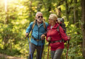 couple, walking, outdoor, exercise